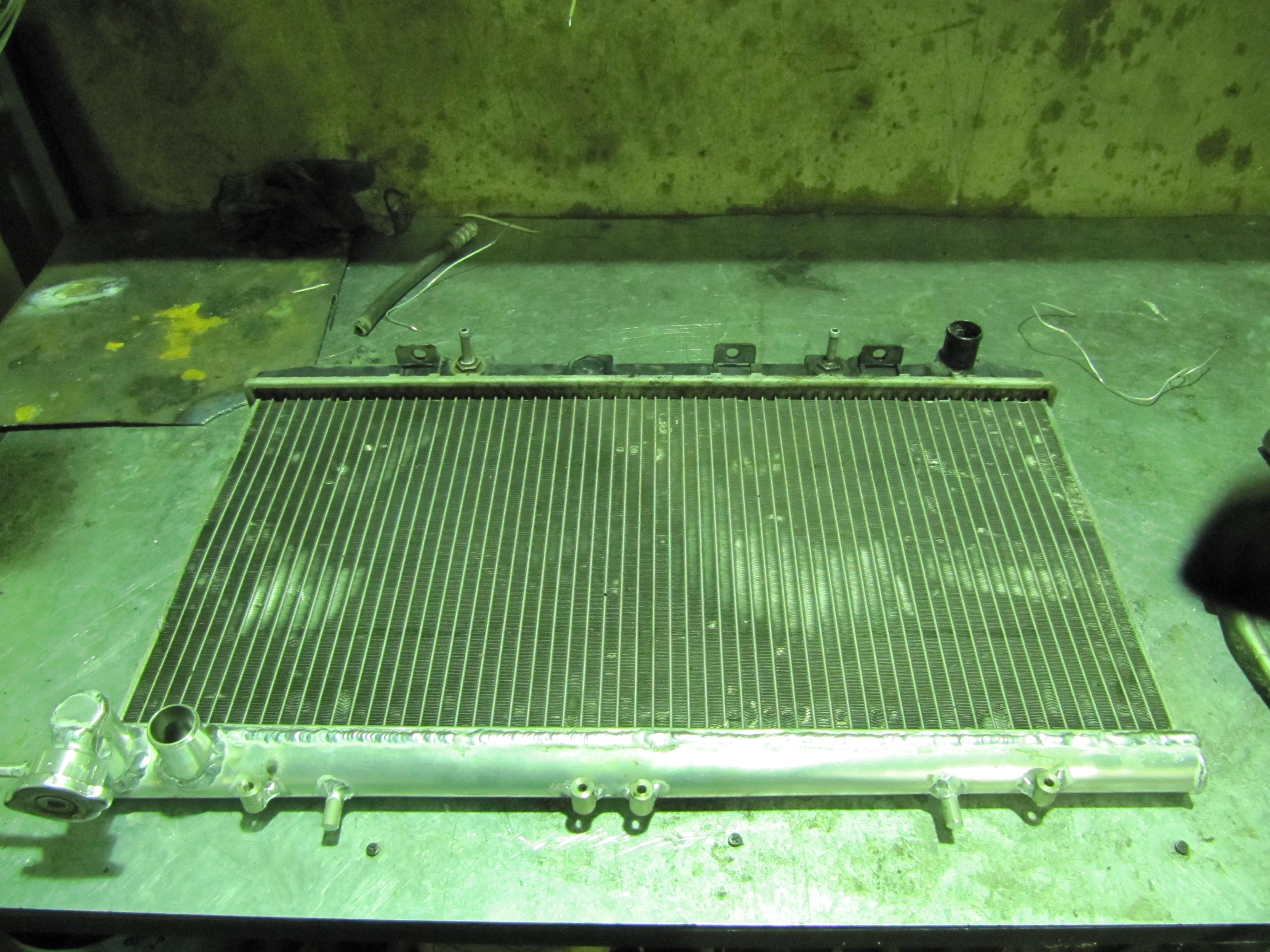 Ремонт алюминиевого радиатора автомобиля 38